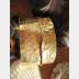 Jeweler's Bronze wide large fold form tribal cuff