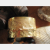Jeweler's Bronze wide large fold form cuff