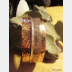 Tribal primitive copper fold form hammered forged cuff