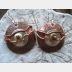 Mixed metal dangle earring of copper and German silver