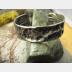 Fold form German silver cuff bracelet