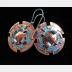 Mixed Metal Earrings-l  Copper and German silver