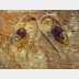 Amethyst gemstone and sterling hoop