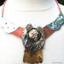 mixed metal art neck piece