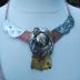 mixed metal art neck piece