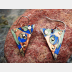 Mixed metal tin and copper earth friendly earrings