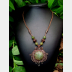 Gemstone mixed metal necklace with viking knit chain