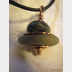 Om rock cairn stacked stone beach rock pendant with copper
