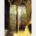 German silver fold form tribal forged bangle cuff
