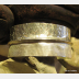 German silver fold form tribal forged bangle cuff