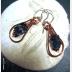 Fluorite and Copper Healing Dangle Hoop Earrings