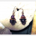 Amethyst and copper primitive dangle earrings