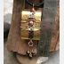 Brass and recycled tin Tibetan Prayer Package Word pendant  stamped Being