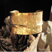 Jeweler's Bronze wide large fold form cuff