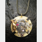 Watch Movement Steampunk Pendant